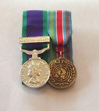 Court Mounted GSM Northern Ireland & Un Bosnia Miniature Medals, Mess Dress