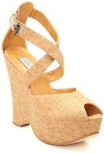 New Plomo Beige Maria Shoe in Cork  wedge women's shoes size US 10 EUR 40