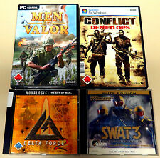 8 PC SPIELE SAMMLUNG GUNMAN METAL GEAR SOLID MEN OF VALOR SWAT 3 USK 18 SHOOTER