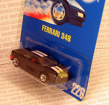 5-SPOKE VARIATION FERRARI 348 BLACK SPORTS CAR #226 BLUE CARD HOT WHEELS