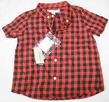 AUTH $115 Burberry Children Boy Plaid Shirt 18m