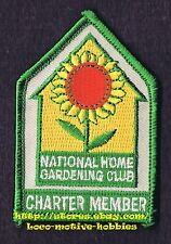 PATCH Badge  NATIONAL HOME GARDENING CLUB Garden Flowers CHARTER MEMBER old Logo