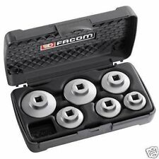 Facom Set 6 Low Profile Fuel Oil Filter Wrench Sockets In Facom Storage Case