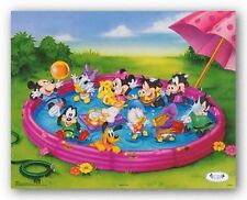 DISNEY ART PRINT Disney Babies: Kiddie Pool Walt Disney