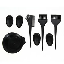 8pcs Hair Dye Colouring Bowl Comb Brush Tint Kit Set Stylist Hairdressing Salon