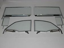 1955 1956 1957 CHEVROLET PONTIAC CONVERTIBLE SIDE GLASS SET ASSEMBLED CLEAR
