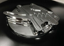 Hayabusa Custom Huge 3D Chrome w/Smooth Edges Fuel/Gas Cap! 08-11-12-13-14-15-16