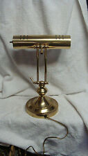 Vintage Brass Banker's Library Study Table Lamp Light  ADJUSTABLE. NICE