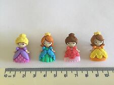 Small Princess buttons in green pink yellow purple Novelty Dress It Up 9004