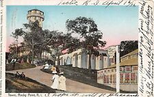 1906 Tower & Forest Casino Vaudeville Show Sign Rocky Point RI post card Copper