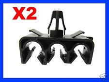 2 THREE HOLE BRAKE CLUTCH CABLE PIPE CLIP FIXING CAR auto plastic fastener 75N