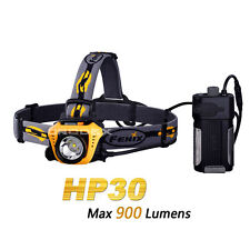 Fenix HP30 Orange Cree XM-L2 LED 18650 Headlamp with USB Power Charger Output