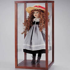 "New In Box Wood & Acrylic Doll display show Case   20"" H x 10"" W x 10"" D inch"