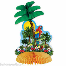 "12"" Tropical Island Paradise Luau Party Honeycomb Table Centrepiece Decoration"