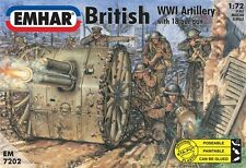 EMHAR 7202 -  WW1 British Artillery With 18 Pdr Gun        1:72 Scale Models Kit