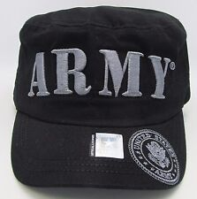 United States U.S. ARMY Cadet Cap Hat USA Caps US Military Licensed Black NWT