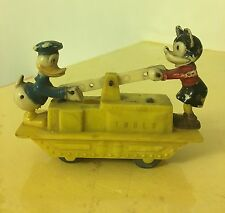 MICKEY MOUSE DONALD DUCK WIND UP HAND CAR 50s MARX TOYS? RARE