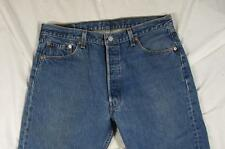 Vtg USA Made Levi 501 Button Fly Faded Denim Jeans Tag 38x31 Measure 36x28.5