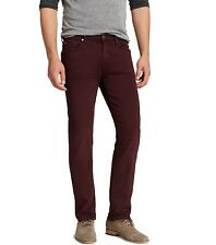 7 For All Mankind NEW Crimson Red Mens Size 33x34 Slimmy Stretch Jeans $198 050