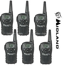 6 Pack Midland Xtra Talk LXT118 Two Way Radio Walkie Talkie FRS 18 Mile Set 22ch