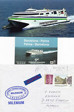 MILENIUM CATAMARAN A SHIPS CACHED COVER REAL PHOTOGRAPH & BUSINESS CARD