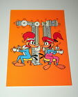 Vintage Woody Woodpecker & Girl Friend Working Out Greeting Card 1982 NOS New