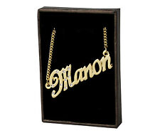 "Name Necklace ""MANON"" - 18ct Gold Plated - Czech Rhinestones - Christmas Jewelry"