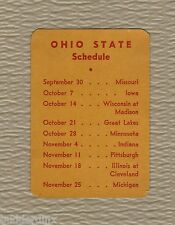 OHIO STATE BUCKEYES  1944 FOOTBALL SCHEDULE  * VERY VERY RARE * ANTIQUE *VINTAGE