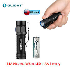Olight Flashlight S1A Cree XM-L2 LED Neutral White 550 Lumens with AA Battery US