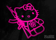 Hello kitty fusil d'assaut AK47 vinyle sticker autocollant voiture van fenêtre ordinateur portable mur