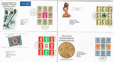 GREAT BRITAIN - 20 FINE CONDITION BOOKLET PANE FIRST DAY COVERS (5 SCANS)
