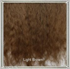 "Mohair Weft LIGHT BROWN,  5"" - 6"" X 36""   Ideal for Reborn dolls"