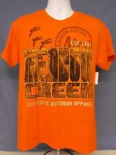NEW Mens T Shirt Duck Bird Hunting Dog Meadow Creek Orange Clothes Size Large
