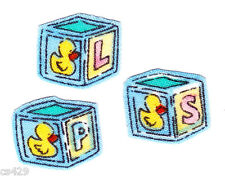 SUZY'S ZOO ALPHABET BLOCKS SET CHARACTER FABRIC APPLIQUE IRON ON