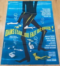 Affiche de cinéma : DANS L'EAU QUI FAIT DES BULLES de MAURICE DELBEZ / DE FUNES