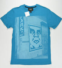 Obey Männer T-Shirt New York S/S Tee Größe S Turquise