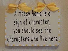 BELLA DECORATIVA handcrafted firmare un confuso Home è un segno di carattere