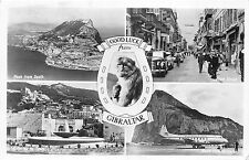 B95162 gibraltar monkey plane airplane avions   real photo