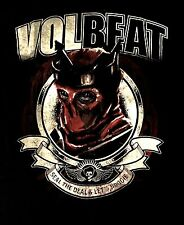 VOLBEAT cd lgo Seal the Deal and Lets Boogie RED KING Official SHIRT MED new