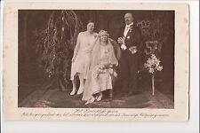 Vintage Postcard  Queen Wilhelmina, Prince Henry & Juliana of the Netherlands