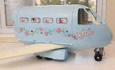 VINTAGE 1999 BARBIE JUMBO JET PLANE AIRPLANE MATTEL DOLL TOY BLUE  SOUNDS