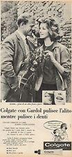 J0481 Dentifricio COLGATE Gardol - Pubblicità - 1962 Vintage Advertising