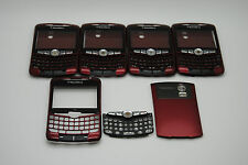 LOT of 5 BLACKBERRY CURVE 8300 8320 RED 3pc hosuing used