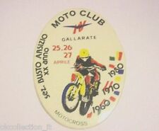 ADESIVO MOTO anni '80 / Old Sticker MV MOTO CLUB GALLARATE (cm 8 x 11) MOTOCROSS
