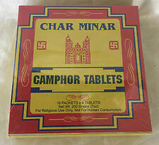 Camphor Tablets for Pooja Char Minar Brand 64 Pack 200g