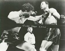 BILLY CONN JABS JOE LOUIS 8X10 PHOTO BOXING PICTURE