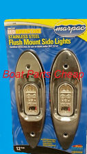 New Marpac Marine LED Flush Side Mount Stainless Steel Bow light Boat Navigation