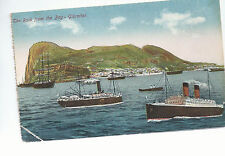 The Rock of Gibraltar   Ships In the Bay of Gibraltar   Unused  Postcard 734