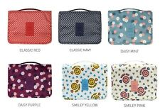 Travel Toiletry & Cosmetic Multi Pouch Tote Carry Bag Hanging Pouch(Daisy purple