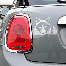 Useful Accessory Vinyl Car Decal Sticker Funny Cat Claw Nail Finger Flipping Off